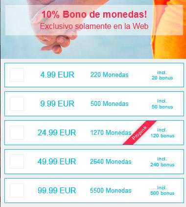 precios monedas gratis idates